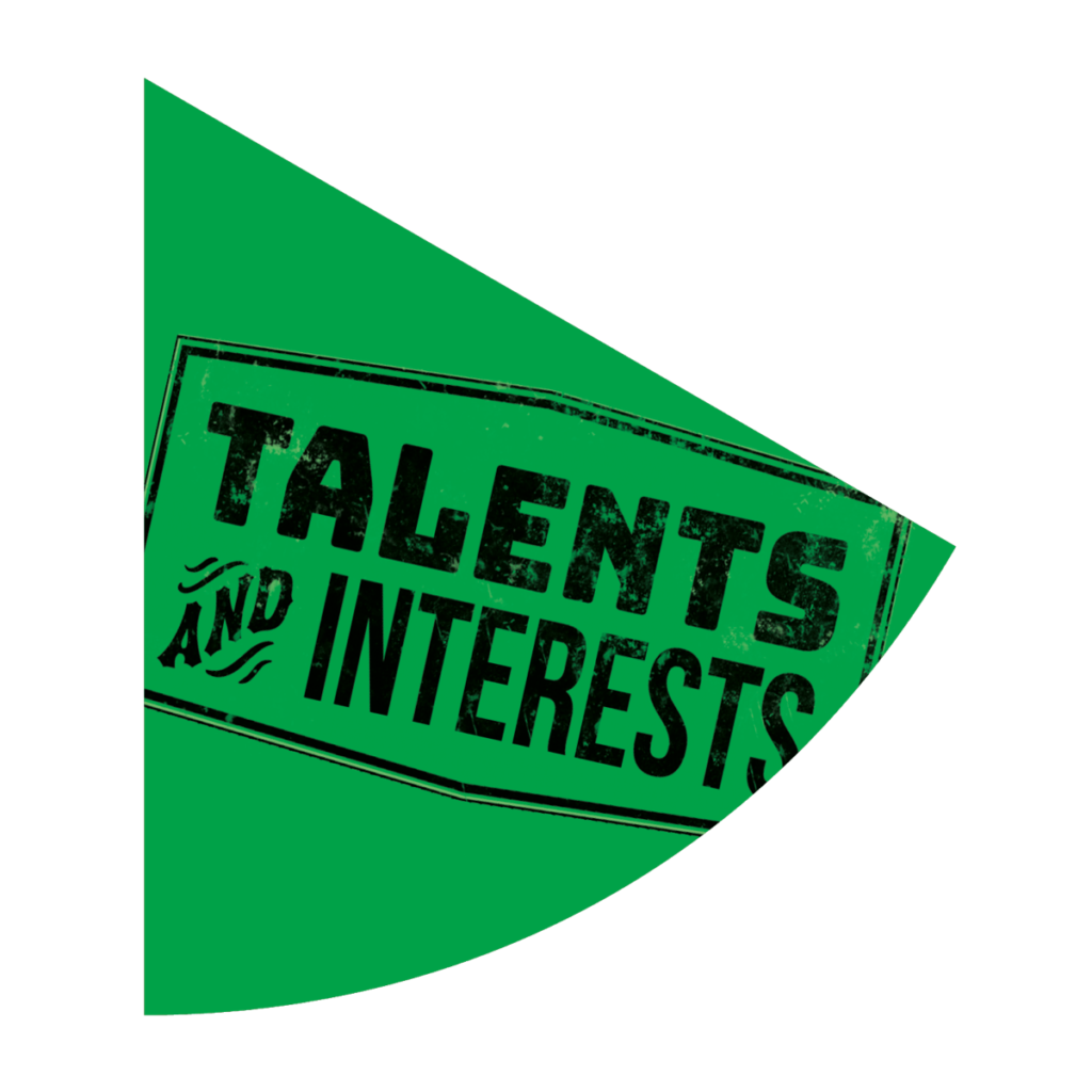 Graphic of the Resilience Wheel, Talents and Interests segment