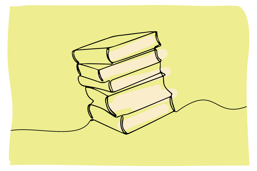 illustration image of books