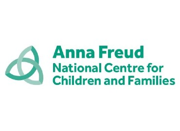 White background with green writing: Anna Freud National Centre for Children and Families