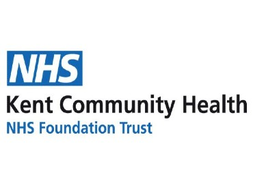 White background with blue and white NHS logo and