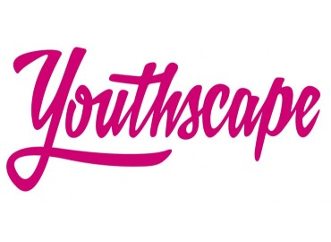 Youthscape logo - a white background with the word 'Youthscape' written in large pink joined up bubble handwriting