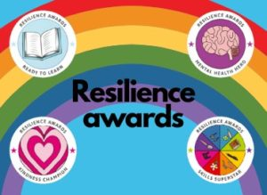 resilience awards with rainbow background