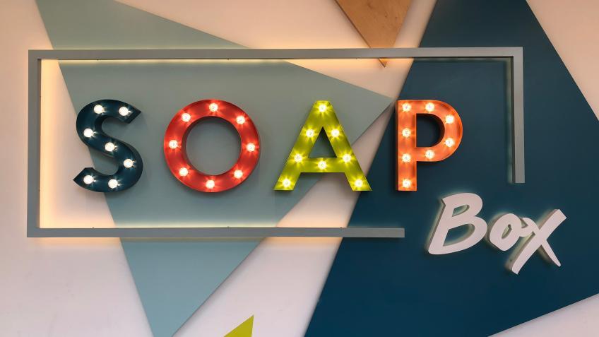 SoapBox wall logo